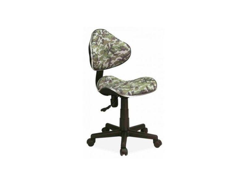 Abbey   chaise pivotante pour enfants   hauteur réglable 80-92cm   tissu haute qualité   chaise de bureau à roulettes - vert