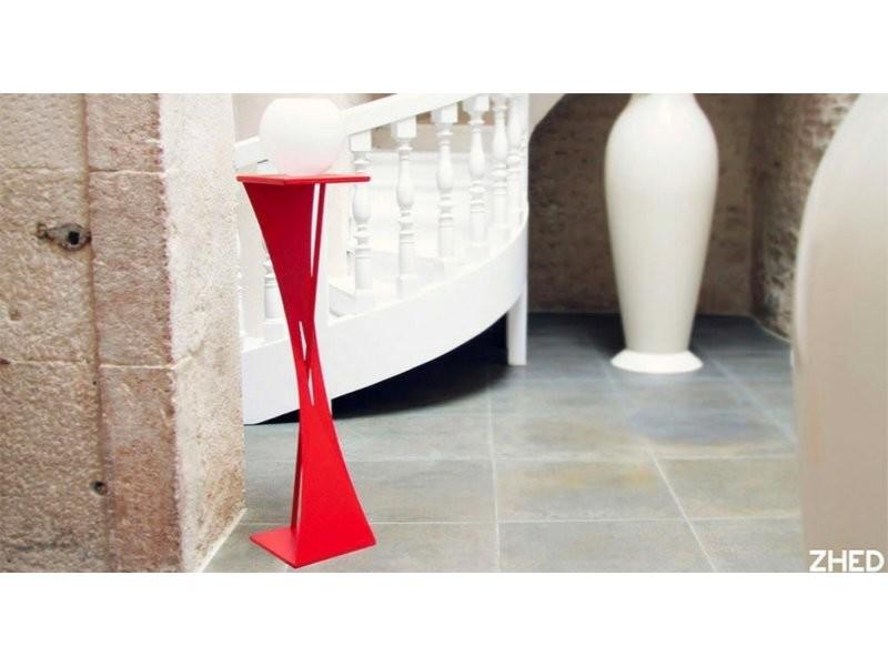 Sellette geneze rouge coquelicot hauteur 75 cm Sel_GEN_h75_Coq
