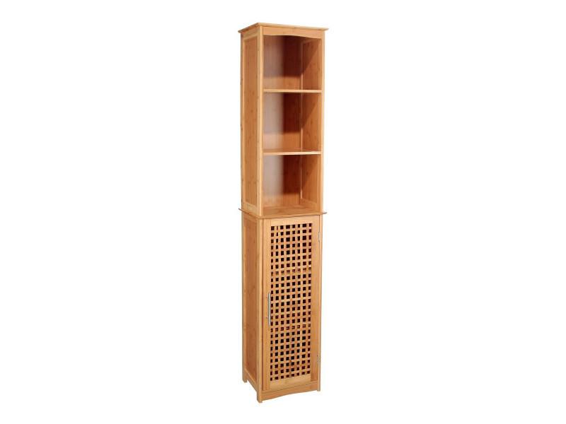Colonne de salle de bain en bambou vente de meuble et - Meuble colonne salle de bain conforama ...