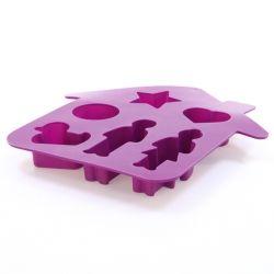 Moule fantaisie maison - silicone - violet
