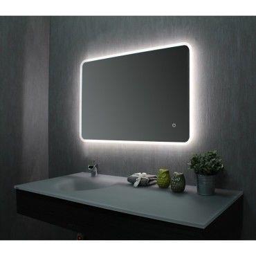 Miroir de salle de bains avec led 60 cm x 90 cm hxl - Miroir salle de bain conforama ...