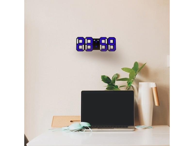 Horloge murale bleu pour la maison, cuisine, bureau, dc 5v ...
