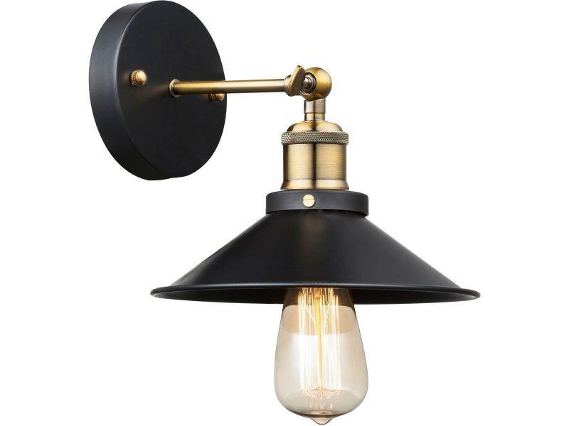 Applique industrielle lenius noire et dorée en métal vente de