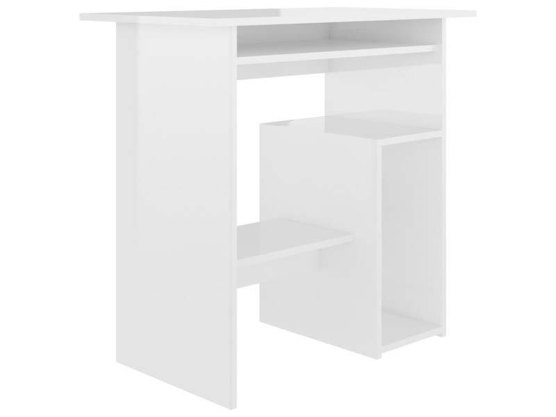 Vidaxl bureau blanc brillant 80 x 45 x 74 cm aggloméré 801370