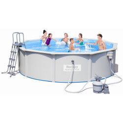 Piscine hors sol piscine et baln o jardin loisirs for Conforama piscine hors sol