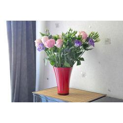 Vase fizzy rouge 14 cm