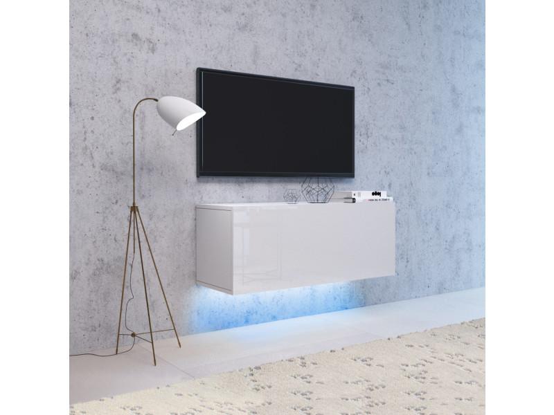 Rtv livol led. Rtv-cabinet avec led. 100 cm, blanc