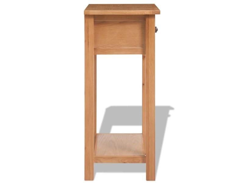 Vidaxl table console 50 x 32 x 75 cm bois de chêne massif 243932