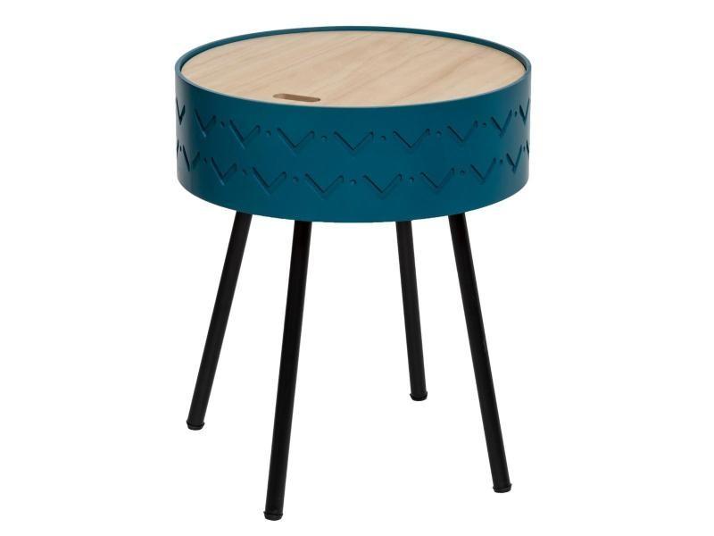 Table à café coffre shiro bleu - atmosphera