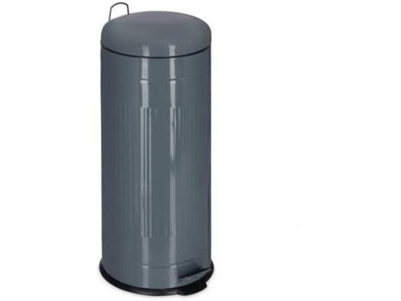 Poubelle à pédale acier inoxydable seau intérieur 30 litres gris helloshop26 13_0002316