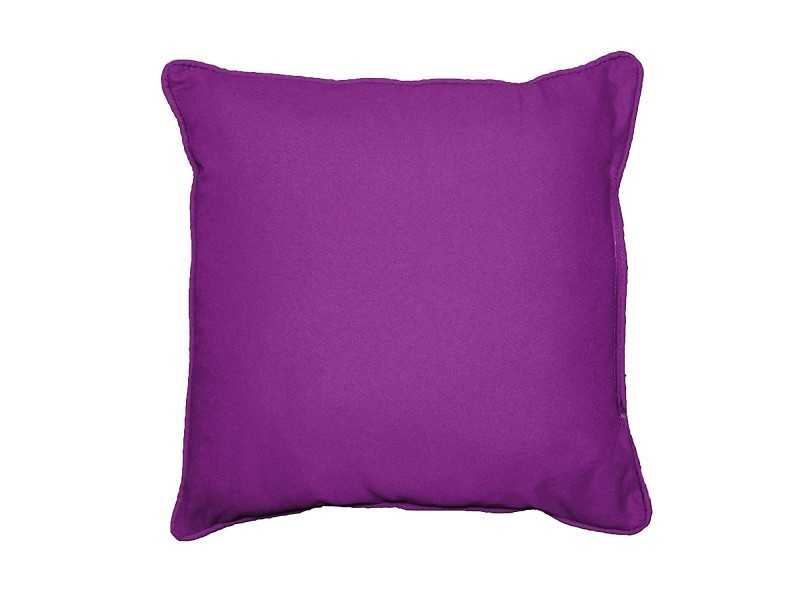 Coussin passepoil 40 x 40 cm panama prune