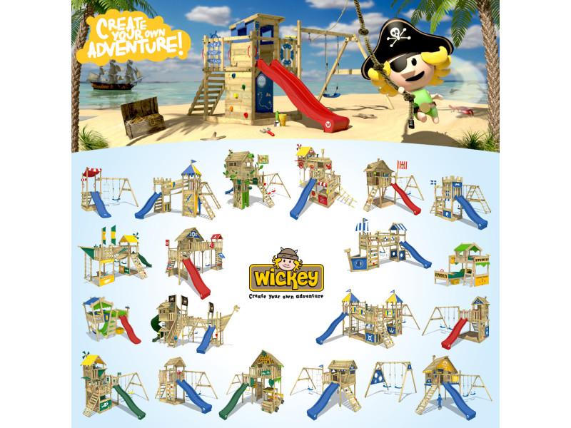 Wickey aire de jeux smart express portique en bois tour d´escalade avec 2  sièges. prevnext 6e04d1c1b75d