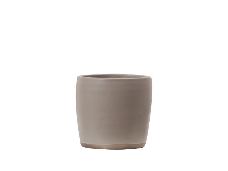 Gobelet en céramique - beige - dimensions :