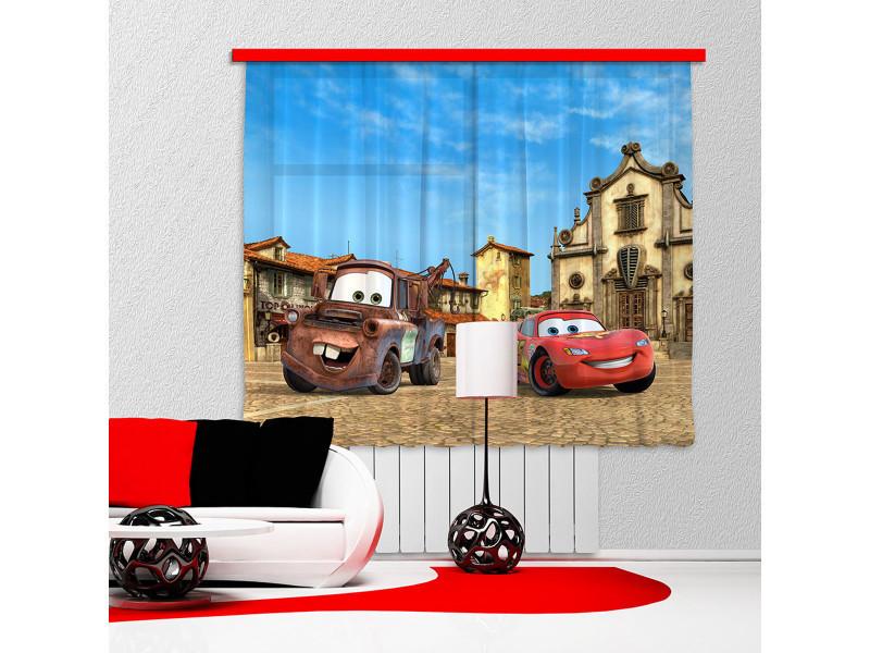 Rideaux cars flash mcqueen & martin disney-standard : 180x160 cm ...