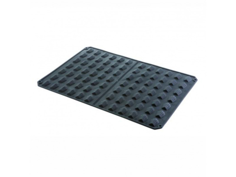 Moule silicone 600 x 400 mm pour 84 mini madeleines - pujadas - silicone