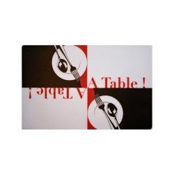 Set de table transparent motif a table 28 x 44 cm