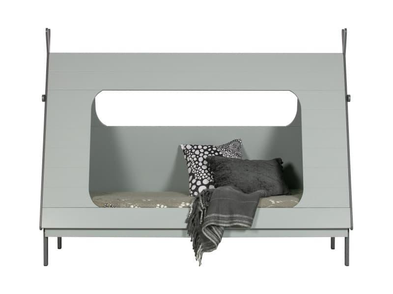 Tipi - lit enfant bois - couleur - gris béton 380100-G