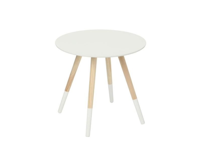table basse mileo blanc 48cm vente de atmosphera conforama. Black Bedroom Furniture Sets. Home Design Ideas