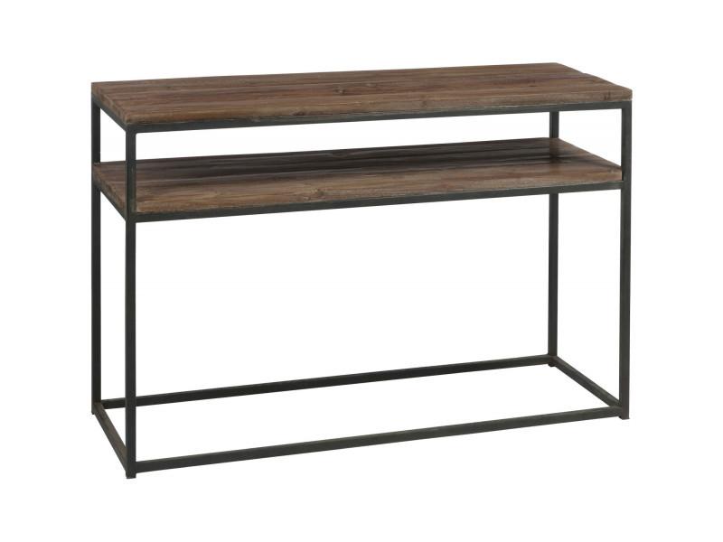 Console bois métal bohena creek 78554