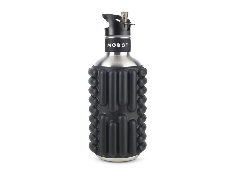 Bouteille de sport avec revetement trigger point 1,2 litres BIG BERTHA 1,2 LBB-BLACK