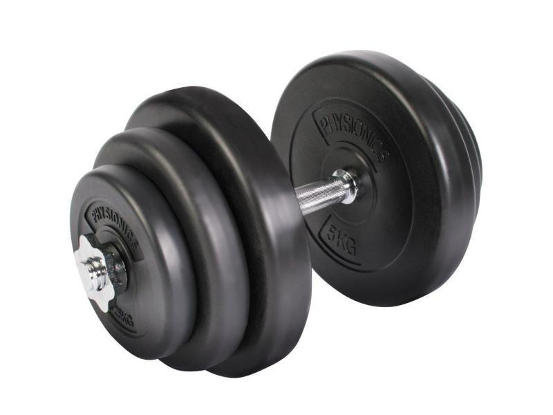 Set haltères courts 20 kg avec disques musculation fitness biceps helloshop26 0701157