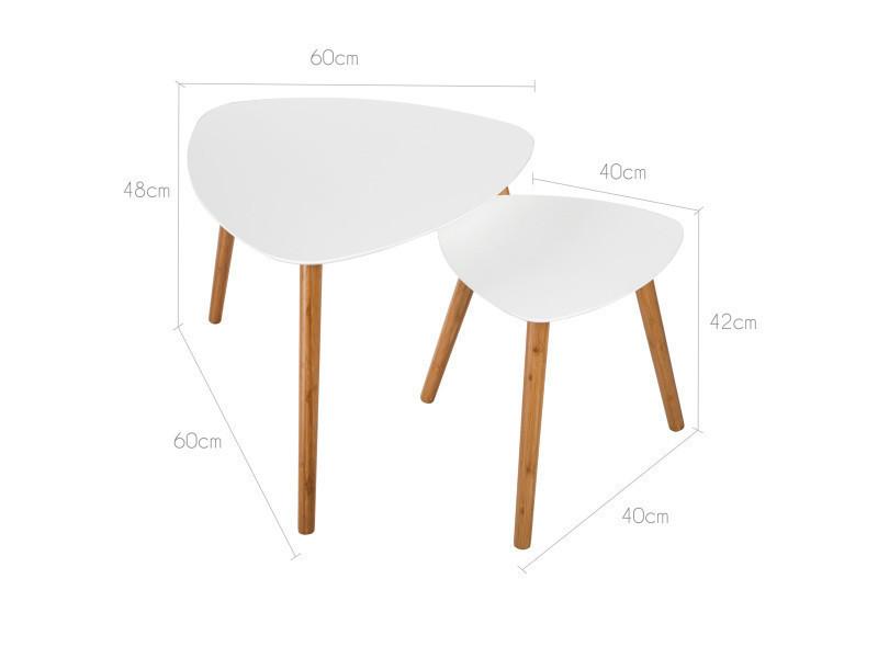 Table basse scandinave blanche lot de 2 vente de table - Table basse conforama blanche ...
