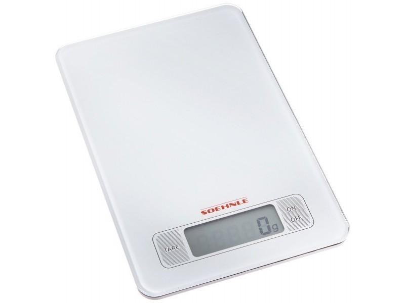 Soehnle balance de cuisine ultra plate page verre 5kg 66100 ...