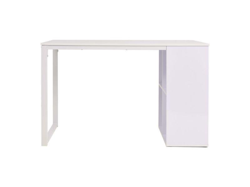 Icaverne bureaux superbe table d écriture  cm blanc
