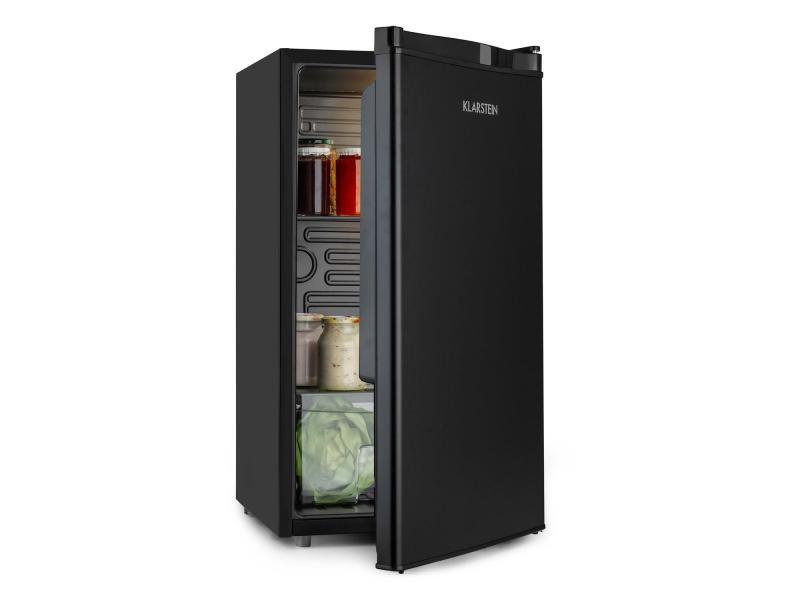 Klarstein obsidian réfrigérateur 91 litres , 2 clayettes en verre , 42 db , classe a+ - noir HEA14-Odsidian-90