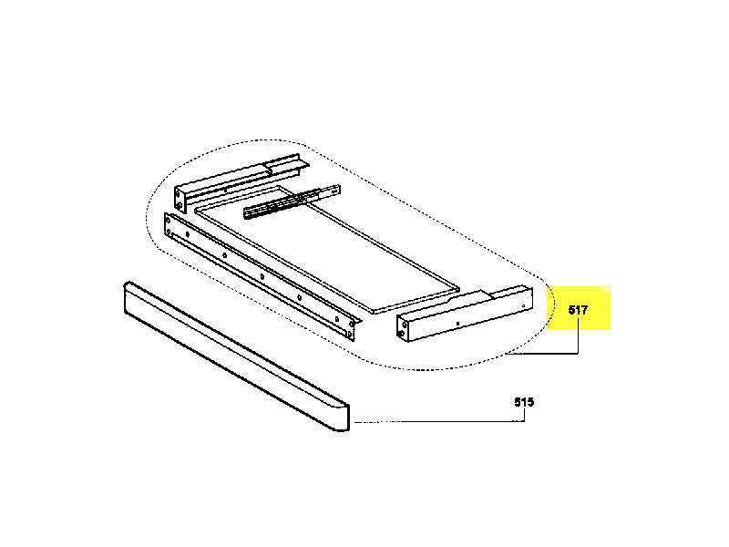 Tiroir support blanc reference : z00sp051760b