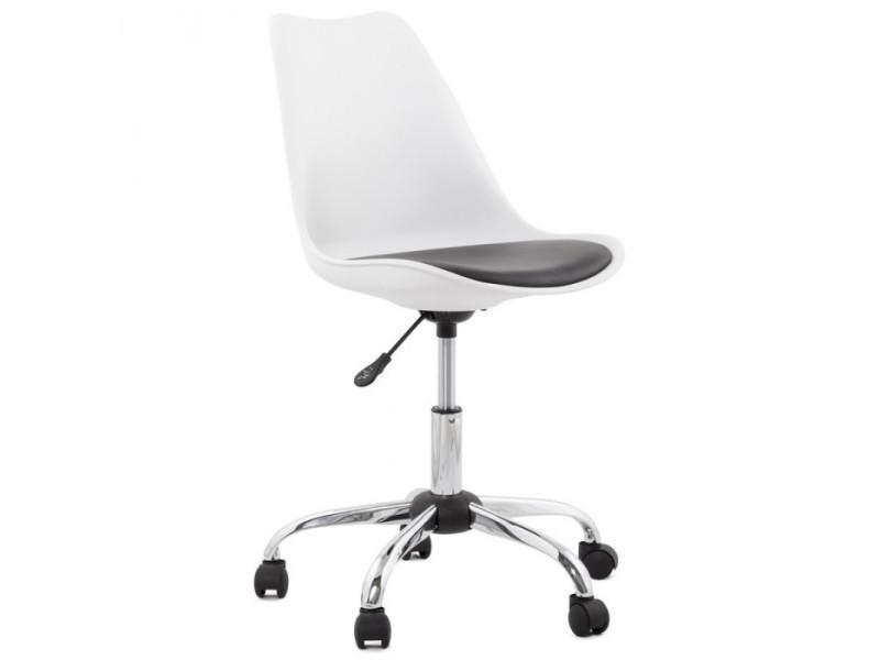 Fauteuil de bureau noir et blanc edea vente de fauteuil de bureau