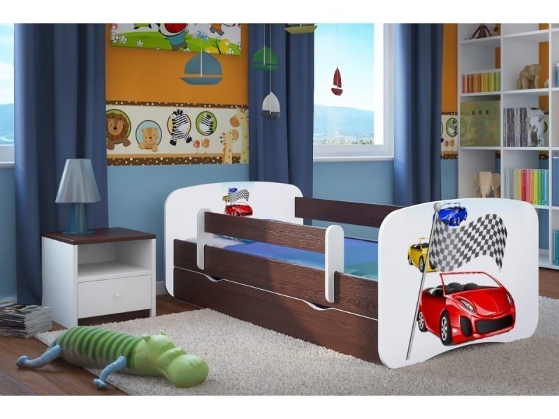 lit enfant ferrari 80 cm x 180 cm avec barriere de. Black Bedroom Furniture Sets. Home Design Ideas