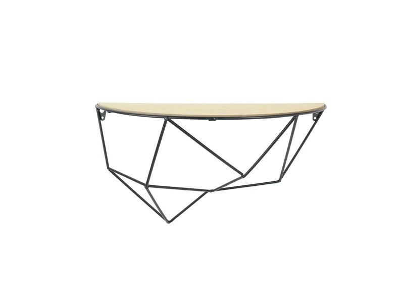 Étagère bois et métal géométrique