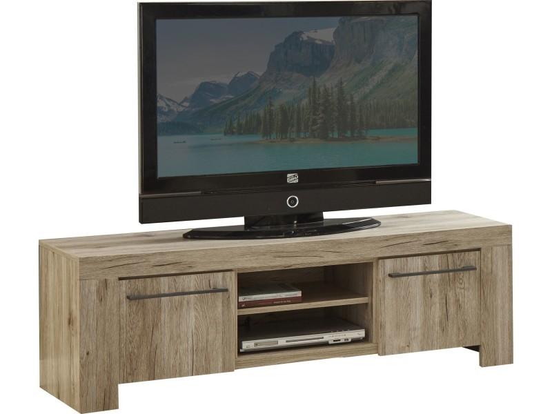 Meuble Tv 150 Cm A 2 Portes Coloris Chene San Remo P 26304