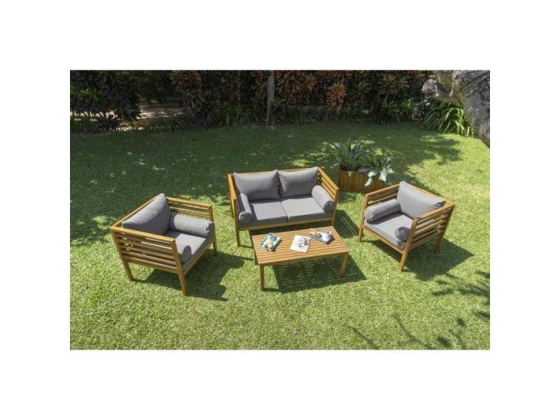 Salon de jardin - ensemble table chaise fauteuil de jardin hawi ...