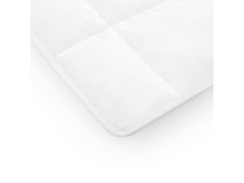 Couette 135x200 été blanche pratique respirante couverture légère premium nuit paisible housse microfibre MISTER SANDMAN
