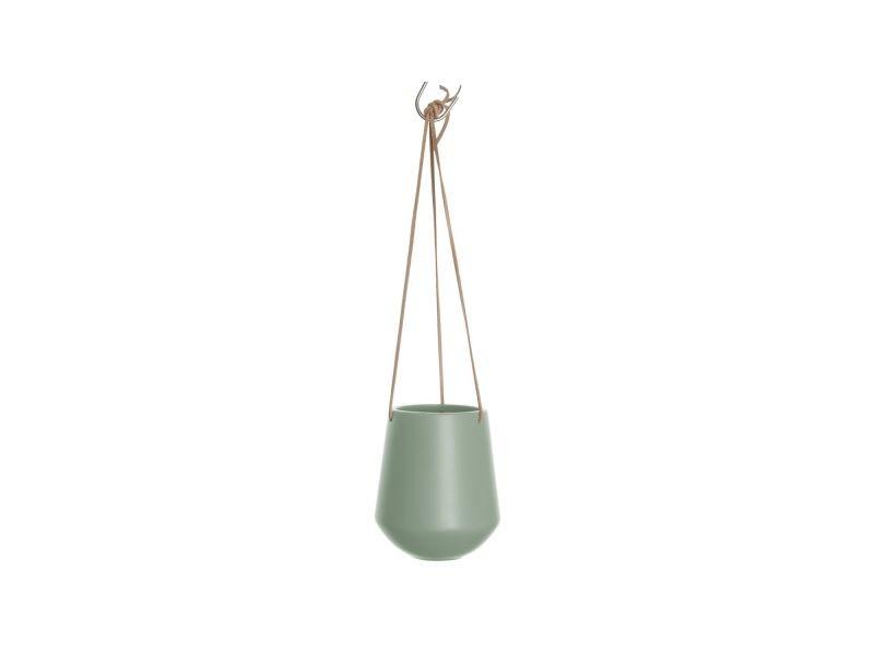 Cache-pot design suspendu médium skittlie - h. 65 cm - vert kaki