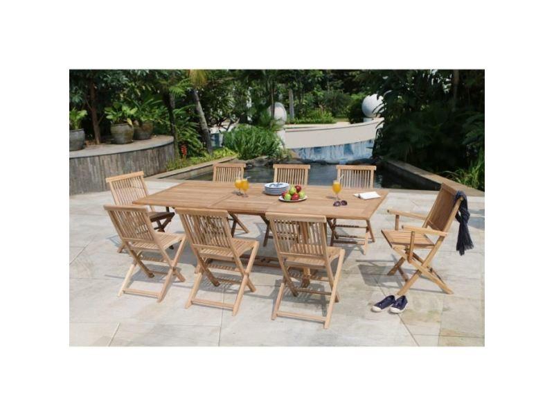 Salon de jardin - ensemble table chaise fauteuil de jardin artigues ...