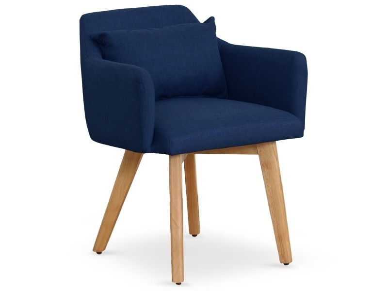 chaise fauteuil scandinave gybson tissu bleu vente de menzzo conforama. Black Bedroom Furniture Sets. Home Design Ideas