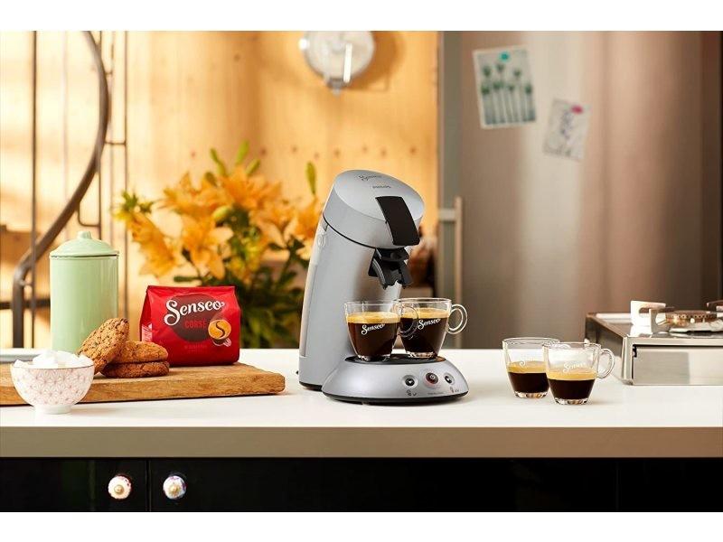 Machine à café à dosettes senseo de 0,7l 1450w gris