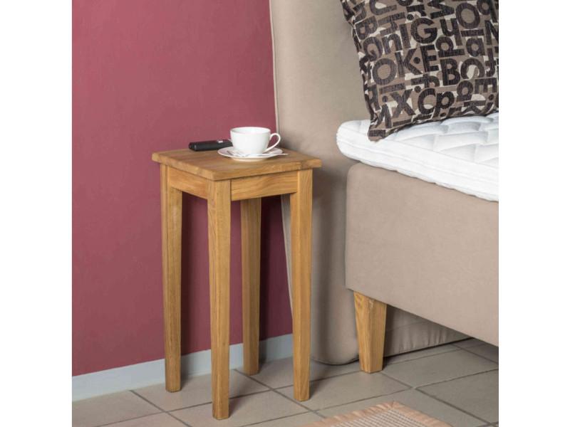 Table de chevet en bois massif chêne huilé - ch15005