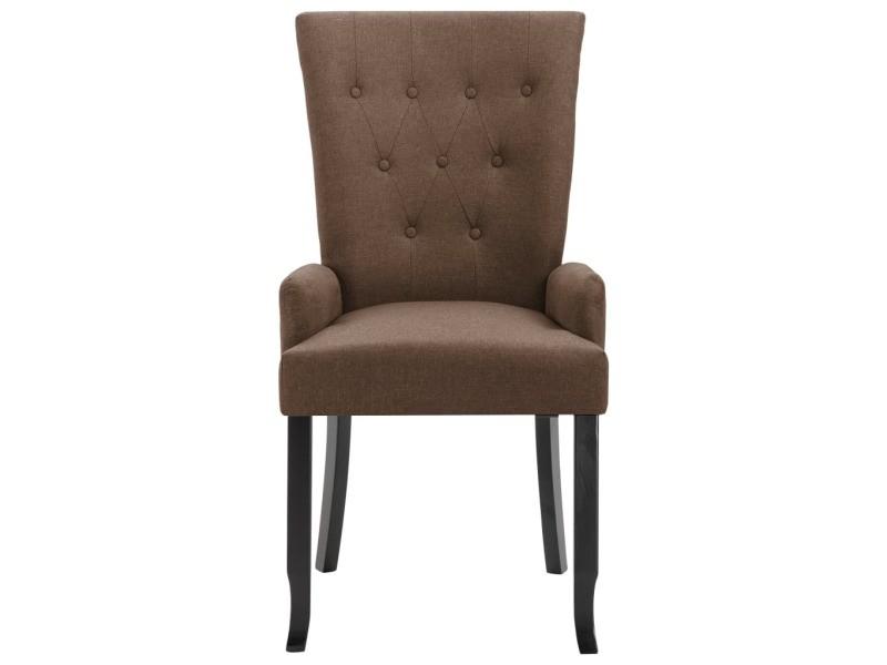 Vidaxl chaises de salle à manger avec accoudoirs 6 pcs