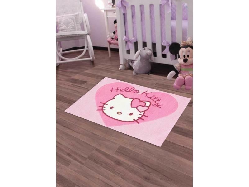 Merveilleux Tapis Chambre 30 Hello Kitty Rose 50 X 80 Cm Tapis Enfant Et Disney Par  Unamourdetapis