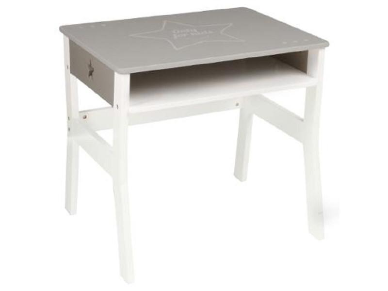 Bureau taupe en bois pour enfant l 58 x p 46 x h 52 cm pegane