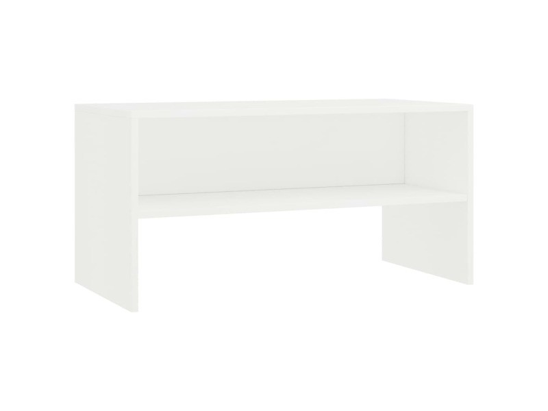 Vidaxl meuble tv blanc 80 x 40 x 40 cm aggloméré 800054
