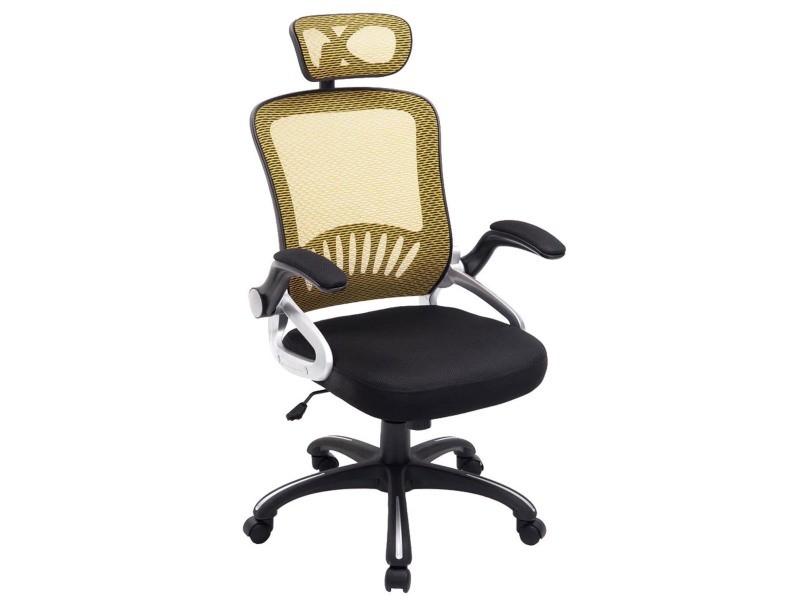 Chaise de bureau en plastique coloris noir jaune x