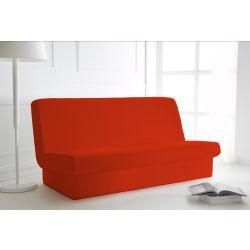 Housse de clic clac rouge 135x195 avec bande de socle
