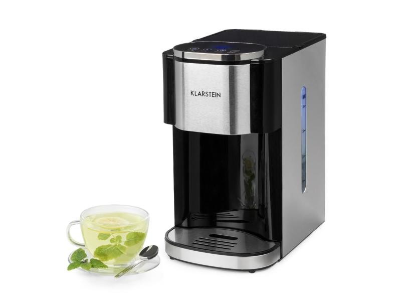 Klarstein hotcano distributeur d'eau chaude 4 litres avec filtre - 2600w - boîtier inox & noir