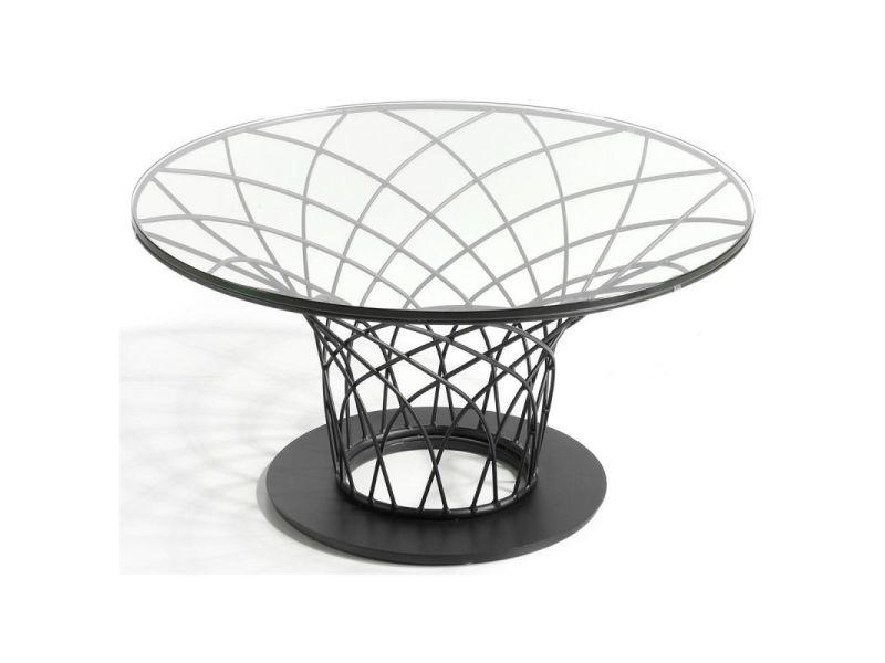 Paris prix - table basse design acier & verre \