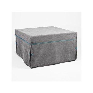 Pouf lit en tissu pure design morfeo gris vente de for Pouf conforama
